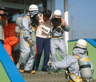 化学災害訓練